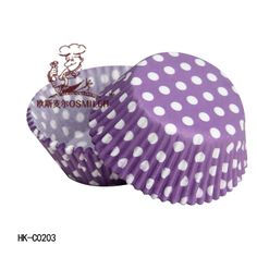 """Free shipping"" New 2013 Purple polka dot greaseproof cupcake liners/wrapper,wholesale C0203 US $13.50"
