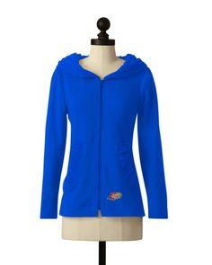 Kansas Jayhawks | Hooded Comfort Jacket | meesh & mia