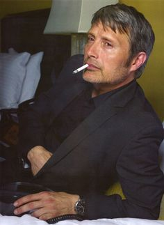 Cigarette is natural part of his sensousness ....