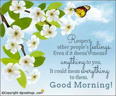 Respect other people's feelings