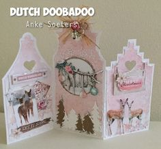 Dutch Doobadoo: let it Snow 3d Cards, Folded Cards, Cool Cards, Screen Cards, Rena, Winter Wonderland Christmas, Shaped Cards, Winter Cards, Winter Theme