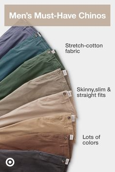 Find mens chinos in modern fits & colors for work or play from business casual to street style. Business Casual Men, Men Casual, Smart Casual, Mens Chino Pants, Men Shorts, Khaki Pants, Formal Men Outfit, Stylish Mens Outfits, Mens Fashion Suits