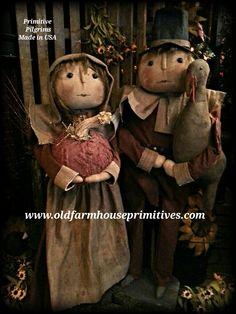 Primitive Pilgrim Fall Harvest Dolls (Made In USA)
