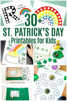 Over 30 St. Patricks Day printables for kids including leprechaun activities, coloring pages, and more! St Patrick Day Activities, Indoor Activities For Kids, Spring Activities, Learning Activities, Teaching Ideas, St Patricks Day Crafts For Kids, St Patrick's Day Crafts, Holiday Crafts, Kid Crafts