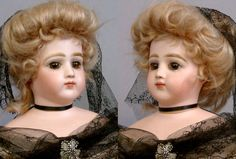 Ready for a Masquerade ball, this amazing young lady is a sumptuous example of one of the finest dolls ever made. An amazing fashion lady for the connoisseur of fine French poupees, the elusive Portrait Jumeau fashion doll is a high mark of excellence in a collection.   eBay!