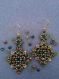 DIY Tutorial: Orecchini perline superduo - DIY Tutorial: Earring beads s...