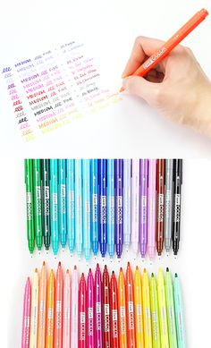 Get imaginative with Dual Tip Deco Pen! With a single pen, I can color, underline, draw, craft, and write all at the same time with the creative design of having two tips on both ends! Each tip has a differently sized pen tip, and it allows me to write however I want!