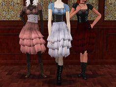 3t2 Rainy Days layared gothic dress.