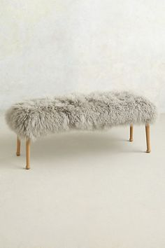 luxe fur bench #anthrofave #uptownchic