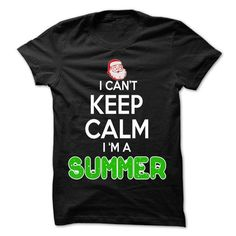 Keep Calm SUMMER... Christmas Time - 0399 Cool Name Shi - #gift for her #hostess gift. PURCHASE NOW => https://www.sunfrog.com/LifeStyle/Keep-Calm-SUMMER-Christmas-Time--0399-Cool-Name-Shirt-.html?68278
