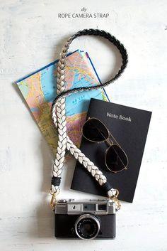DIY rope camera strap #diy #crafts