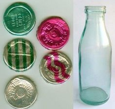 Piim - milk bottle, different kinds had different