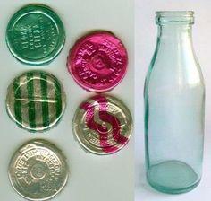 Piim - milk bottle, different kinds had different
