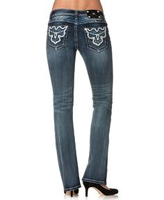 Miss Me Steerhead Pocket Bootcut Jeans - 33 1/2