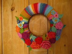 From Attic24, I love this beautiful colorful wreath of color !!
