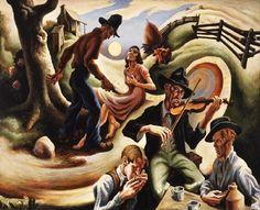 "Thomas Hart Benton (American regionalist artist, 1889–1975)  ""The Ballad of the Jealous Lover of Lone Green Valley"", 1934"