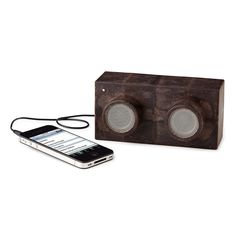 Earth Block Speakers   Made from materials like wood scraps and coffee bean chaff