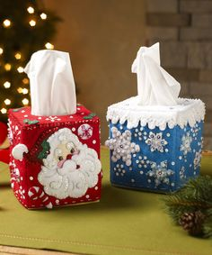 This Tissue Box Cover Embroidery Kit by Bucilla is perfect! #zulilyfinds