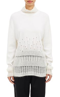 3.1 Phillip Lim - Mixed-Knit Sweater