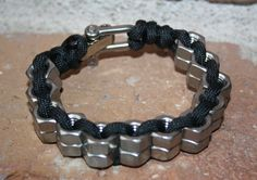 Stainless Steel Hex Nut Bracelet with Stainless Steel by STMcrafts, $18.00
