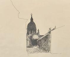 Tusch, Stig Claesson Slas (1928-2008), Dubrovnik, 1965, 37x45