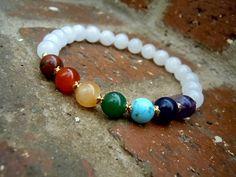 Balance / Chakra Wrist Mala / Yoga Bracelet / Chakra by Syrena56, $27.00