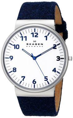 Skagen Men's SKW6098 Ancher Quartz 3 Hand Stainless Steel Blue Watch