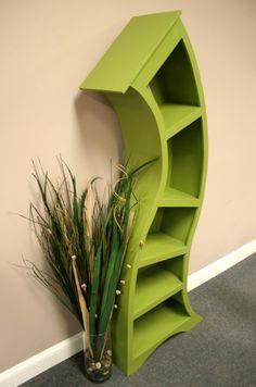 Handmade 6ft Curved Bookshelf,choose Color Below