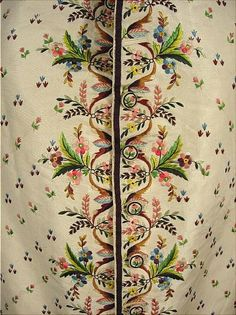 Waistcoat embroidery detail (French?), last quarter 18th century