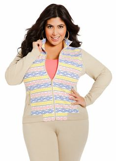 Ashley Stewart Aztec Print Jacket
