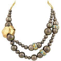 Alexis Bittar grey pearls