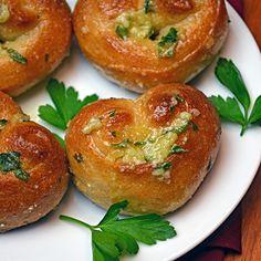 YUM Easy Parmesan Garlic Knot Hearts