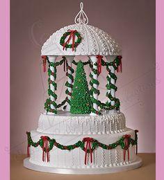 Christmas Gazebo Cake   Cake Decorating