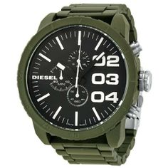 Diesel Men's DZ4251 Advanced Green Watch Diesel. $141.99. Band circumference: 200mm. Durable mineral crystal protects watch from scratches,. Chronograph watch. Water-resistant to 10 M (33 feet). Stainless steel