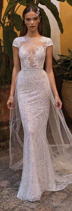Previous Next Berta Fall 2018 Seville Wedding Dress Collection Berta Sevilla wedding dress collection Previous Next Wedding Dresses 2018, Bridal Dresses, Dresses Dresses, Bridal Collection, Dress Collection, Boho Vintage, Pearl Dress, Bridal Fashion Week, Perfect Wedding Dress