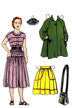 Mother & Father, Hobby Dolls Paper Dolls