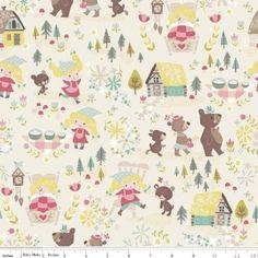 Goldilocks & The Three Bears Fabric by Riley Blake