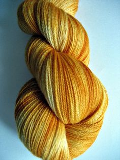 Items similar to Yellow, Gold and Orange Lace Weight Merino/Bamboo Hand-dyed Yarn, 875 yds., 'Butter Me up' on Etsy Hello Autumn, Handmade Items, Handmade Gifts, Hand Dyed Yarn, Orange, Yellow, White Lace, Mustard, Butter