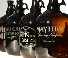 Personalized Pint Glasses Beer Set of Pint by ScissorMill on Etsy