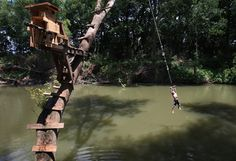 over summer we ditched polo for the rope swing once a week