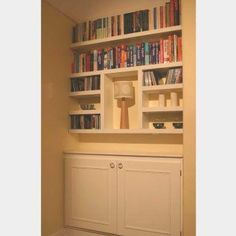 Alcove Shelving and Cupboard Units- would look great in living room alcoves.