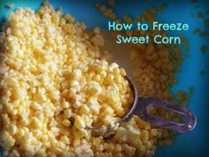 How to freeze sweet