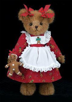 ☃ ღ Bearington Bears -Ginny Gingersnap Country Bears, Christmas Teddy Bear, Christmas Gingerbread, Art Carte, Charlie Bears, Cute Stuffed Animals, Boyds Bears, Bear Wallpaper, Tatty Teddy