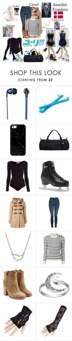 """""""Yuri!!! On Ice oc"""" by nebulaprime ❤ liked on Polyvore featuring beauty, The Sharper Image, Casetify, American Apparel, Body Editions, Riedell, Burberry, Topshop, Bling Jewelry and Étoile Isabel Marant"""