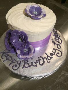 Purple birthday cake from Laidback Cakes