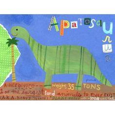"""dinosaur art for Gavin's """"big boy"""" room"""