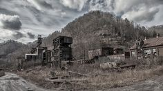 Caretta, West Virginia. If you enjoy visiting coal mining ruins this place will make you  swoon.