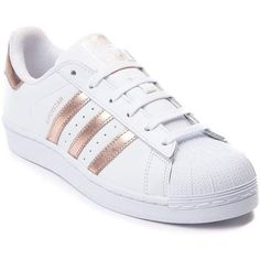 Womens adidas Superstar Athletic Shoe (2,015 MXN) ❤ liked on Polyvore featuring shoes, sneakers, adidas, flexible shoes, laced up shoes, metallic shoes, laced shoes and sports shoes