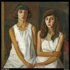 The Twins, c. 1922-23 (Two Girls) by Boris Grigoriev (Russian, 1886 - 1939)