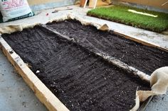 Add the soil on top of your rocks
